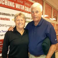Mary Schrad with Bobby Knight